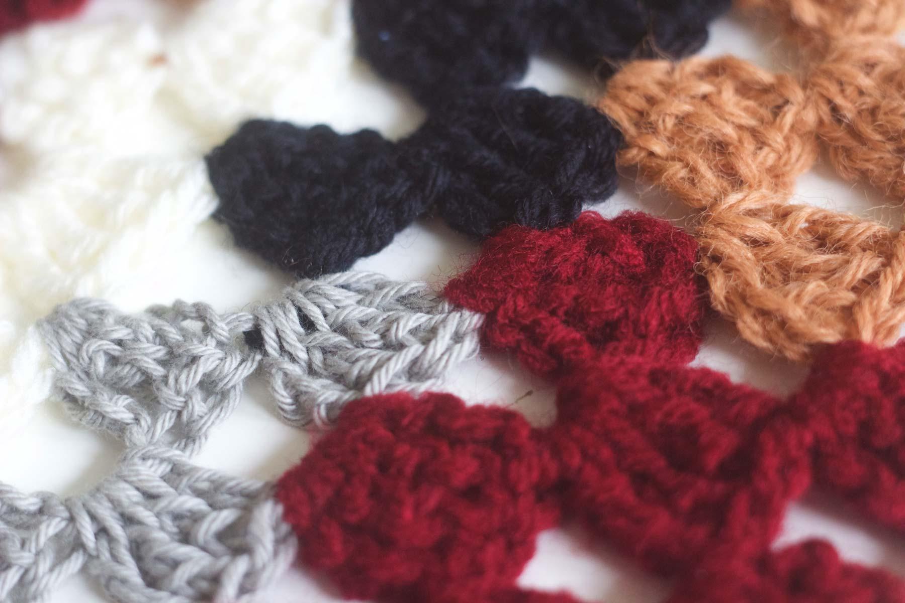 brown-burgundy crochet