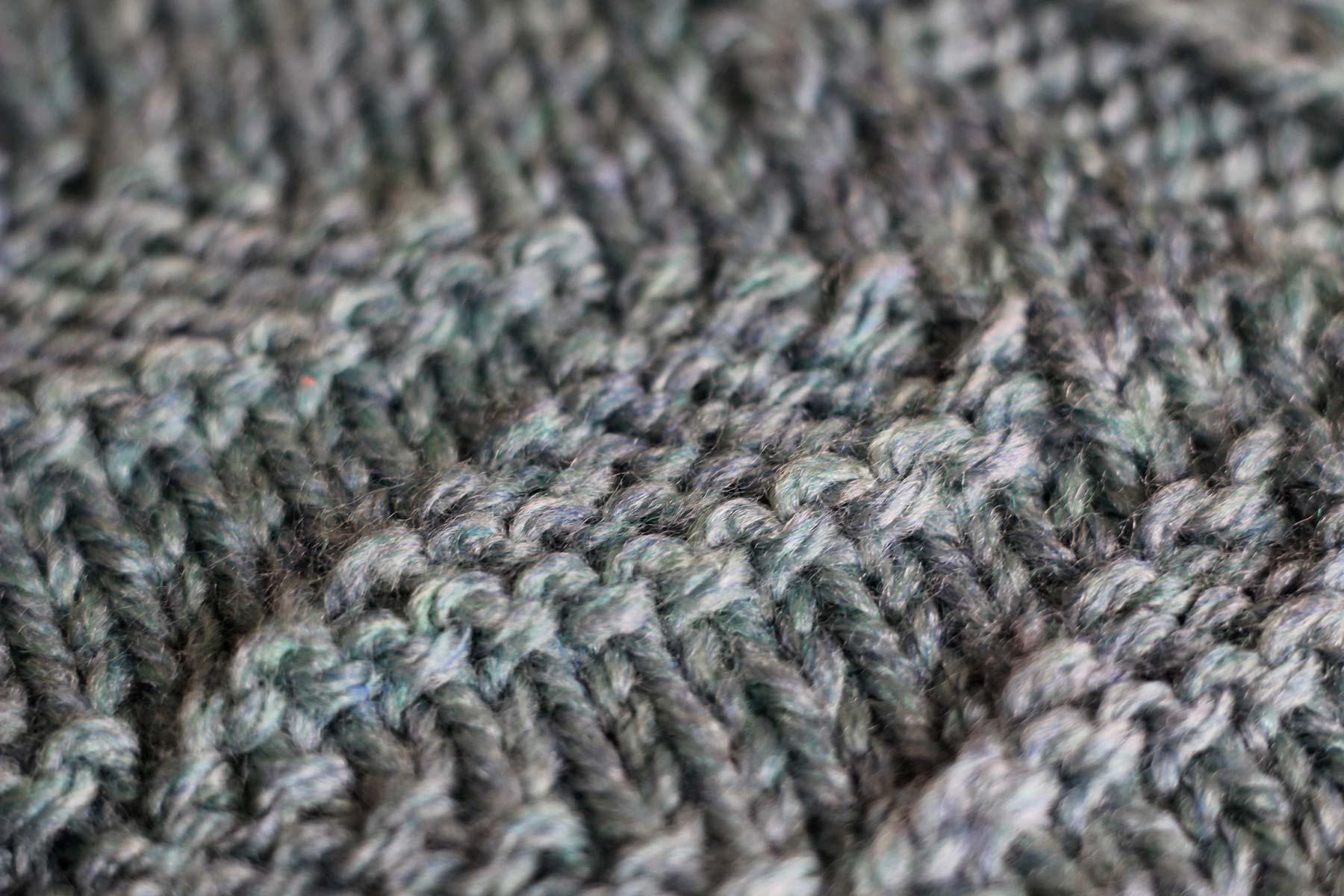 purl stitch triangle
